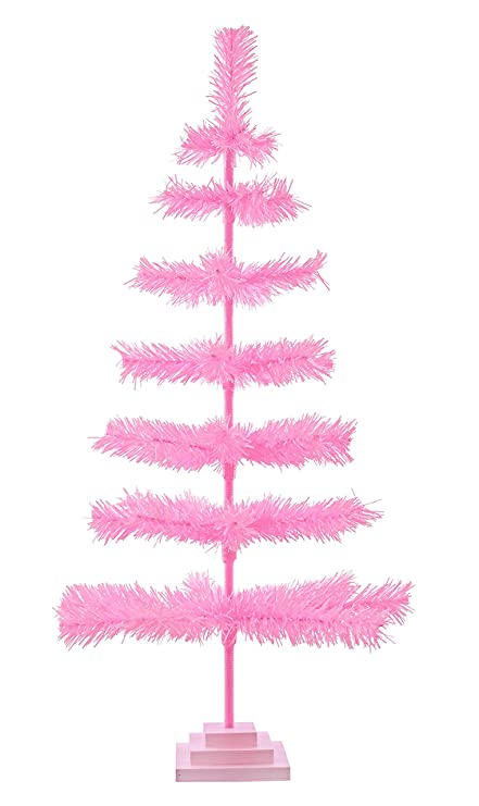 Barbie Christmas Tree Decorations.Amazon Com 36 Pink Christmas Tree Table Top Centerpiece