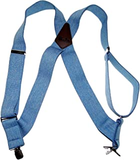 """product image for Holdup Hip-clip 2"""" Wide Trucker Style Suspenders with Patented No-slip Clips"""