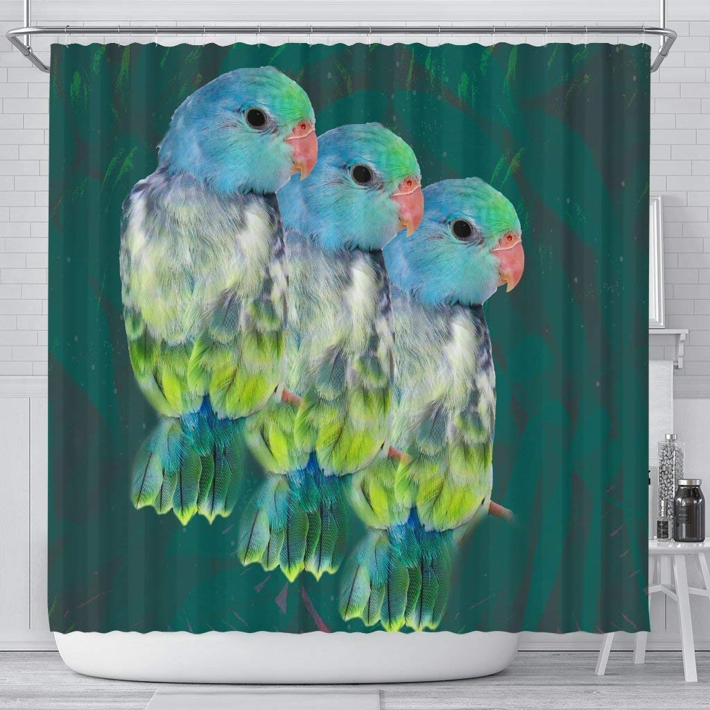 Paws With Attitude Parrotlets Parrot Print Shower Curtains