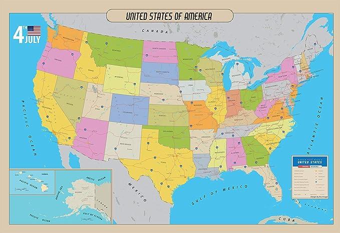 州 地図 アメリカ