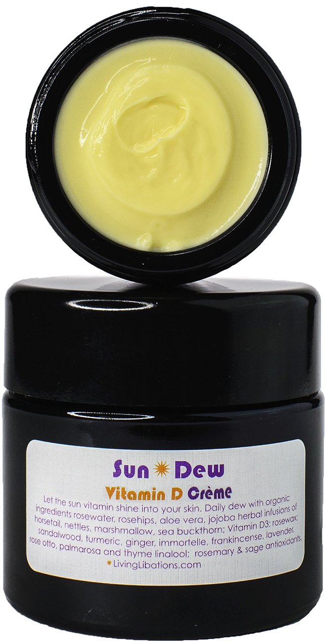 Living Libations   Organic/Wildcrafted Sun Dew Transdermal Vitamin D Creme (50 Ml/1.69 Oz) by Living Libations