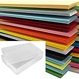500 feuilles format A4 de Papier de couleur 80gm - Assortiment de 25 couleurs