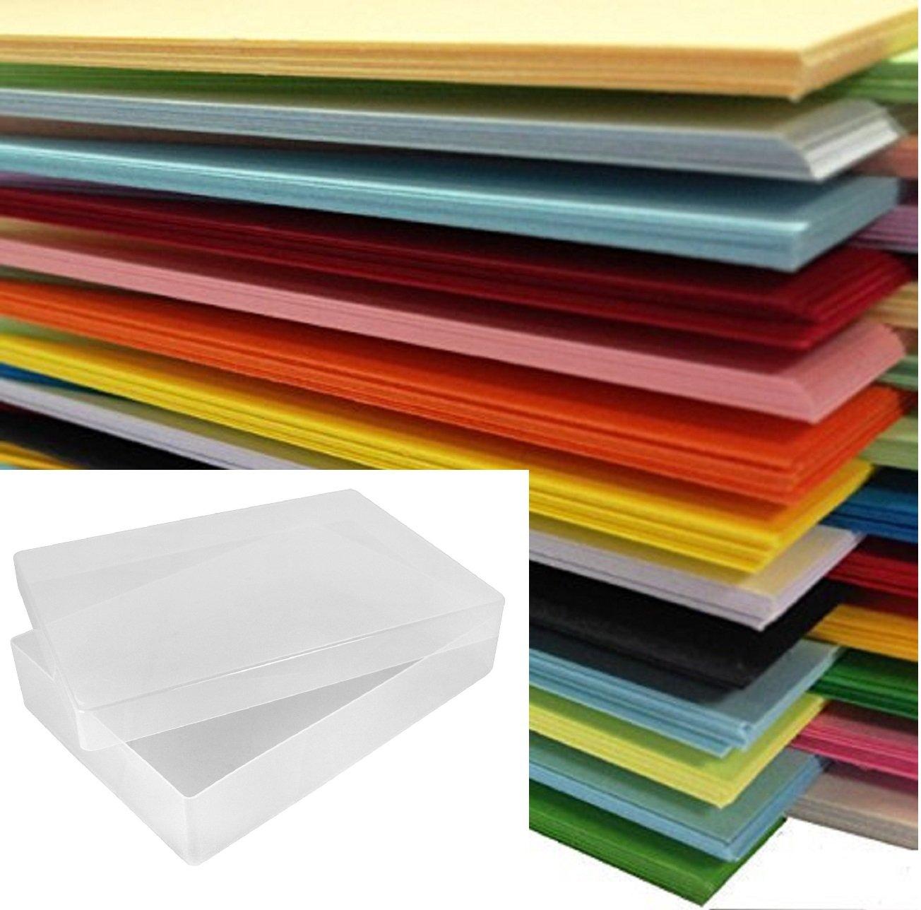 Dalton Maron Risma da 500 fogli di carta colorata, in formato A4, confezionata in scatola di plastica trasparente Weston®, disponibili in 25 colori assortiti DALTON MANOR