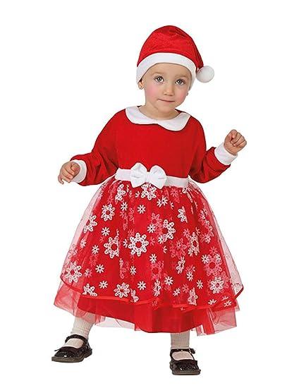 Atosa-32217 Disfraz Mamá Noel Niña Bebé - T, Color Rojo, 6 a ...