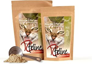 TCfeline Raw Cat Food - A Premix (Supplement) to Make a Homemade raw cat Food Diet. All Natural, Grain Free, Human Grade and Species Appropriate Raw for Cats. (with Chicken Liver)