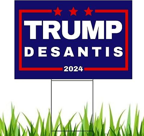 Pesky Patriot Trump Desantis 2024 Yard Sign | Donald Trump and Ron Desantis 18