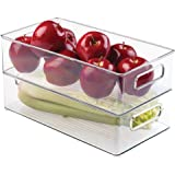 "iDesign Plastic Refrigerator and Freezer Storage Bin BPA-Free Organizer for Kitchen, Garage, Basement, 14.5"" x 8"" x 4…"