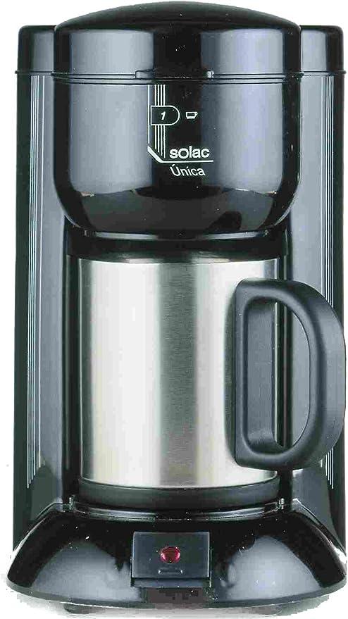 Solac C120BH2 - Cafetera (Cafetera de filtro, 650 W, Negro, Plata): Amazon.es: Hogar