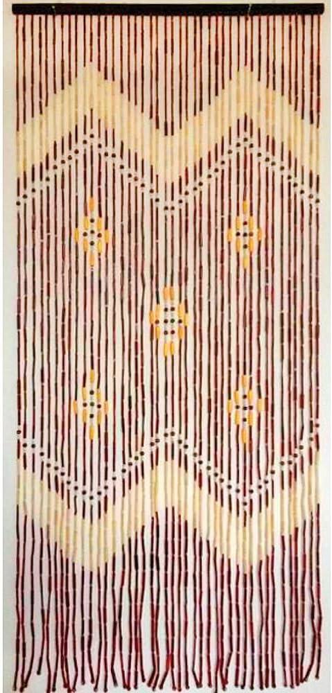 SATURNIA 1191405 Cortina Puerta 42 Tiras Bambu 90x200 cm