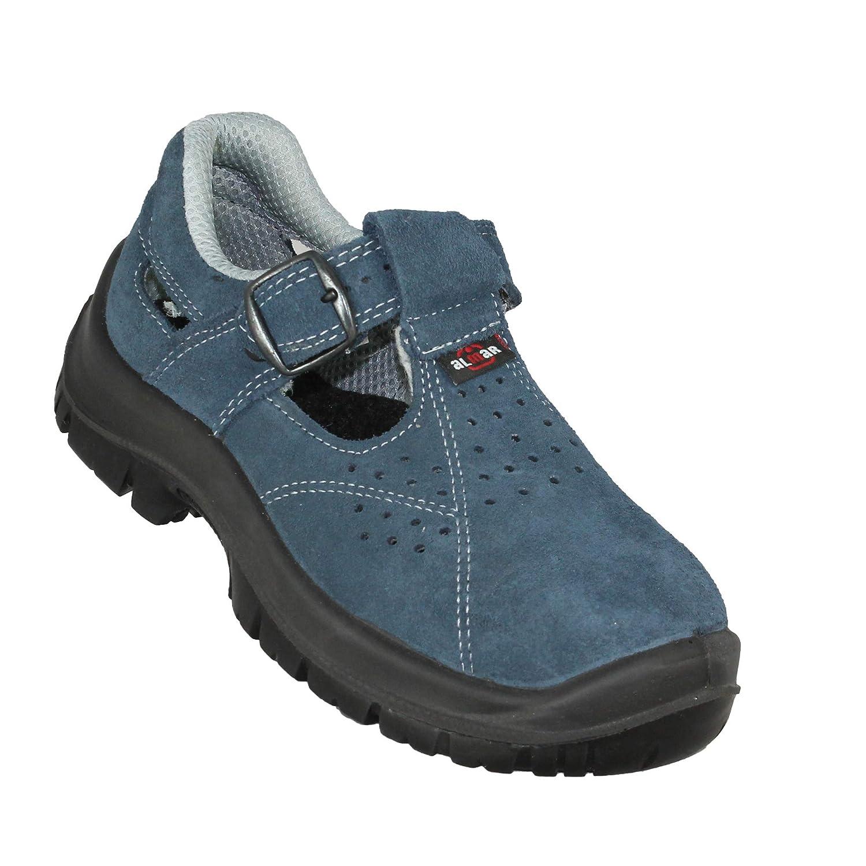 Almar Globe S1P Chaussures de Travail SRC Chaussures de s/écurit/é Sandale Blue B-Stock