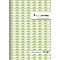 Manifold factures avec mention tva 29,7x21cm 50 feuillets dupli autocopiants