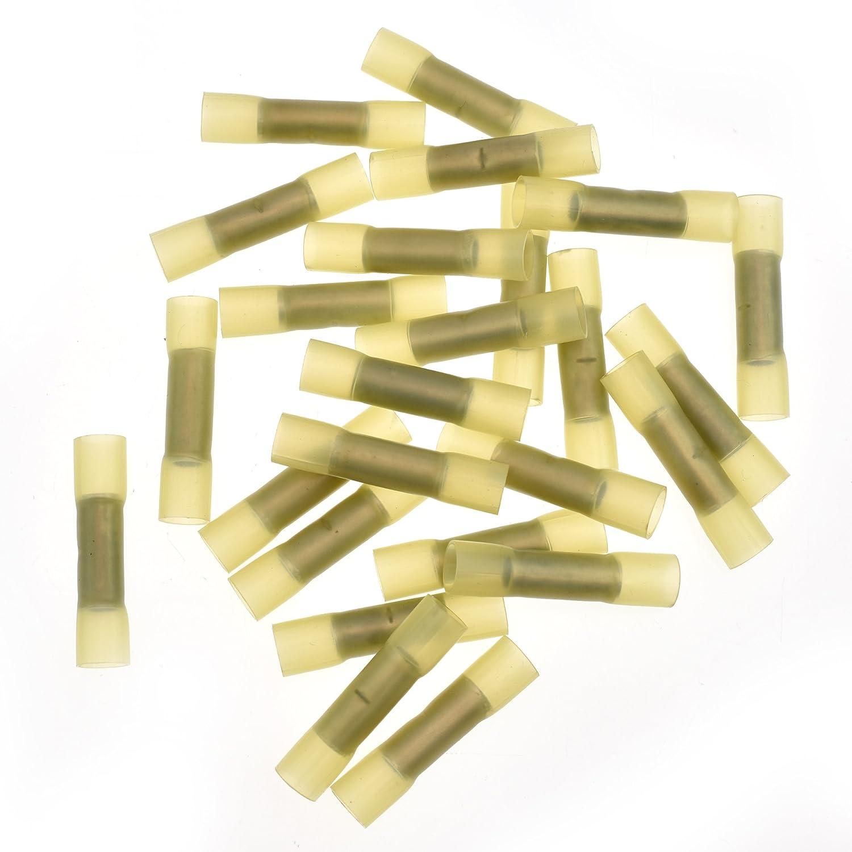 Conext Link BCHS8-25 Heat Shrink Butt Connector 25 Pack 8 Gauge Yellow