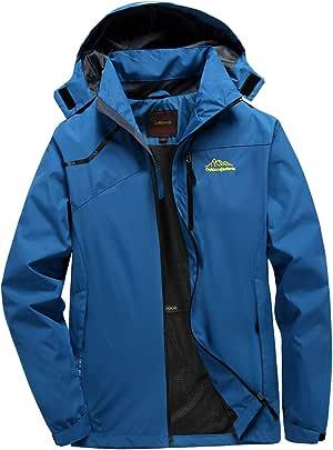 LGHOVRS Jacket Chaqueta Impermeable, Hombre Chaqueta Softshell ...