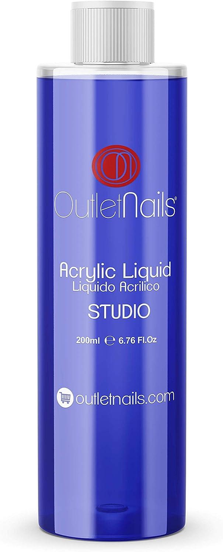 Liquido Acrilico 200ml ideal para Principiantes   Monomero para uñas acrílicas   Secado Lento - medio ideal para Principiantes