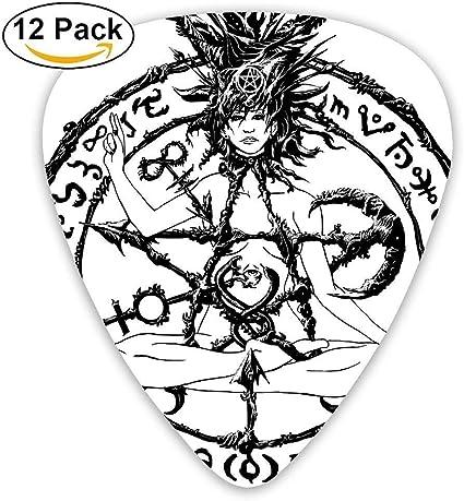 Paquete de 12 púas de guitarra personalizadas con el símbolo del ...