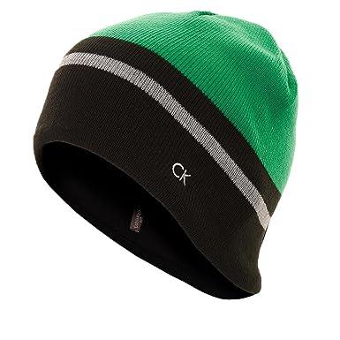 9055b21cb9e Calvin Klein Golf 2016 Mens Reversible Knit Beanie - Green - One Size   Amazon.co.uk  Clothing