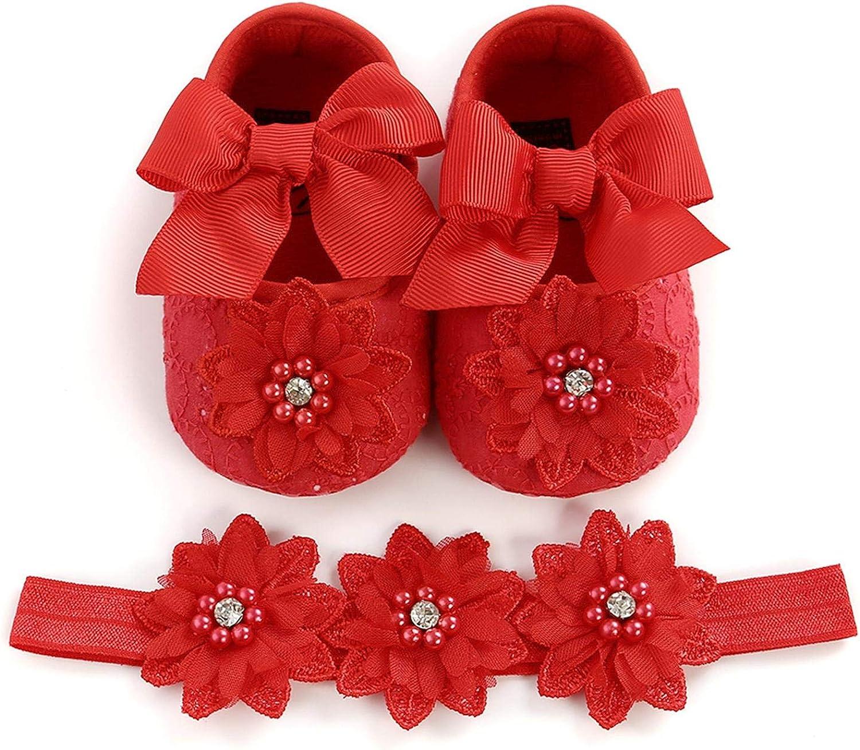 TTLOVE Baby M/ädchen Blume Schuhe Klettverschluss Anti-Rutsch-Weiche Taufe Prinzessin Lauflernschuhe rutschfest Sneaker f/ür Kleinkind-Spitze Sterne+Krone+Bow Stil,0-18 Monate