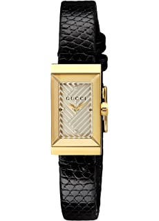 94cabf9fa9f Amazon.com  Gucci Floral Mother of Pearl Dial G Frame Watch YA147403 ...