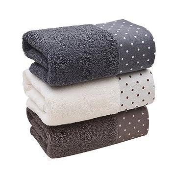B - Toalla para el hogar, Suave, Absorbe el Sudor, para Hombres y Mujeres, diseño Cuadrado, 白色, 34 * 74cm: Amazon.es: Hogar