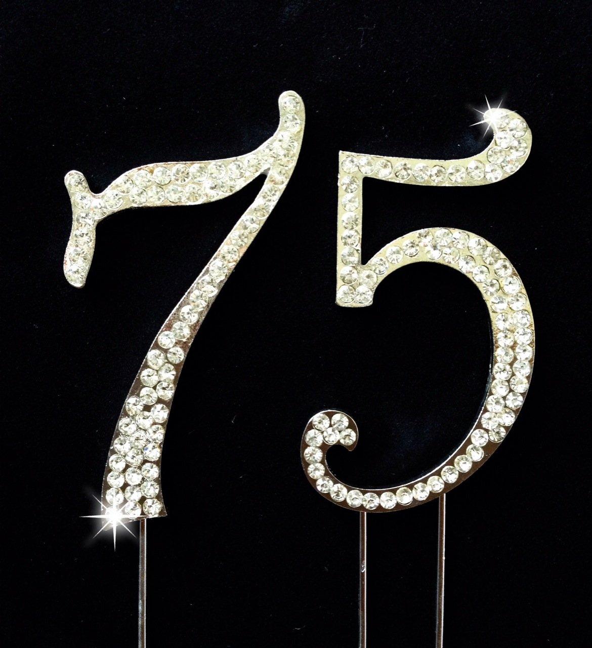 Amazon 75th Birthday Wedding Anniversary Number Cake Topper