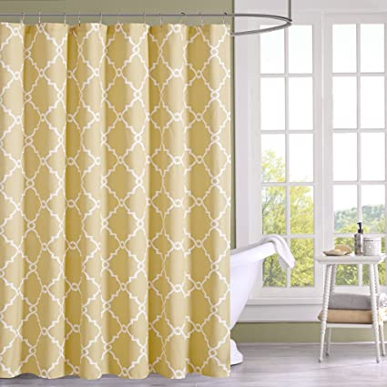 Image Unavailable Not Available For Color Madison Park MP70 2300 Saratoga Shower Curtain 72x72 Yellow