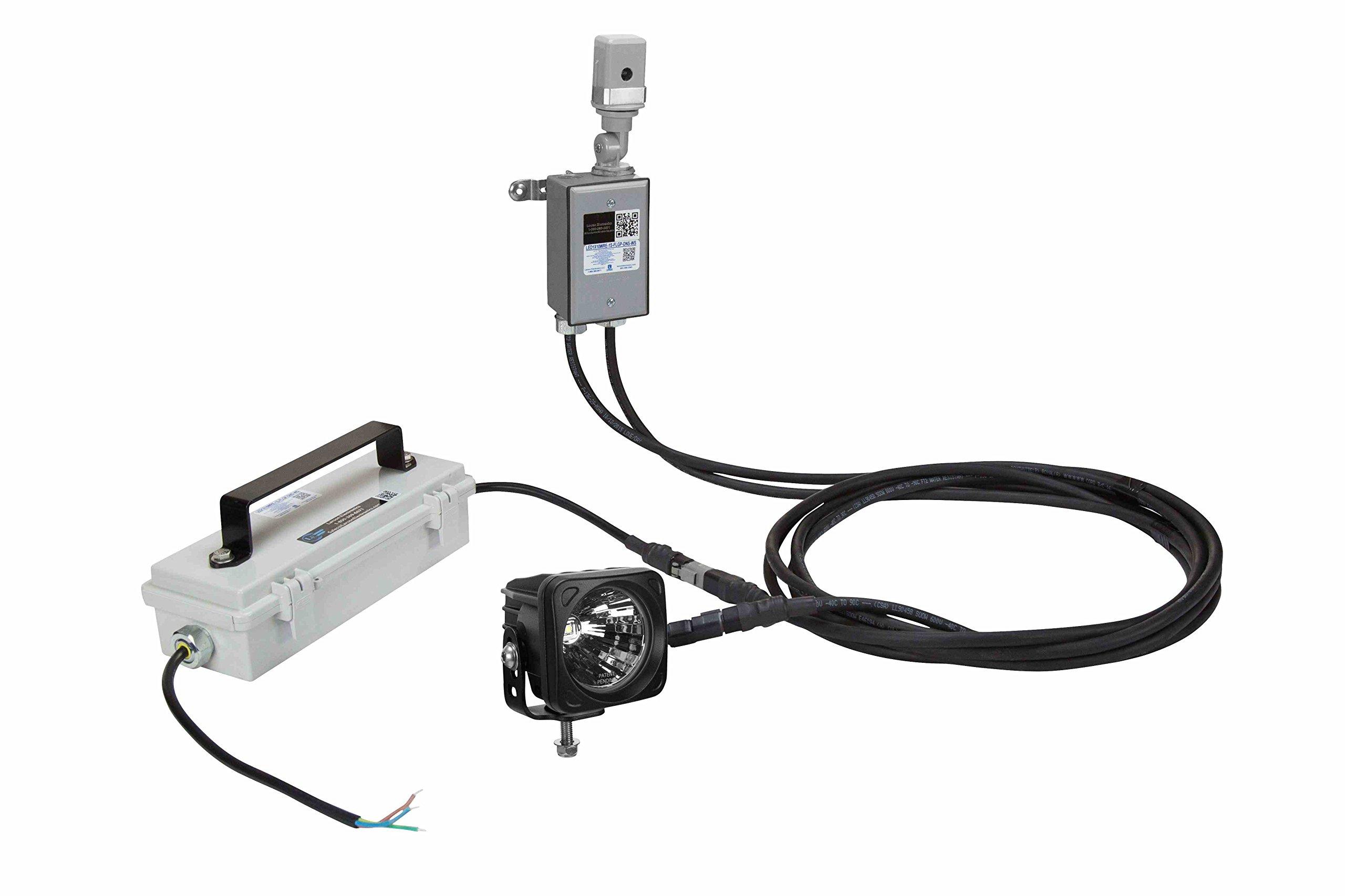 LED Flag Pole Spot Light w/ Integrated Photocell - 10 Watt LED - 120/277VAC 50/60Hz - Day/Night (-20° Wide Spot)