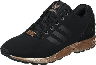 basket adidas zx flux noir et rose gold