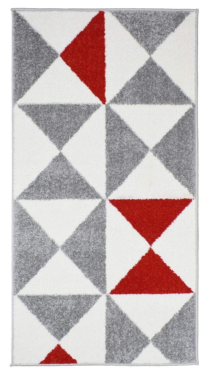 60 x 110 cm Koton Tapis de Salon scandinave Forsa Rouge