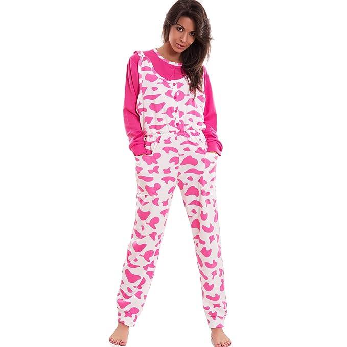 Toocool S-60 - Pijama de una pieza de felpa con botones y diseño de