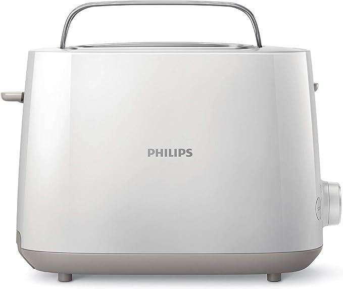 محمصة الخبز فيليبس من سلسلة دايلي كولكشن بقوة ٨٣٠ واط – ٢ شريحة – أبيض (HD2581/01)