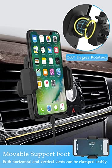 Foneso Universal Smartphone Car Air Vent Mount Holder Compatible with iPhone Xs Max X XR 8Plus Samsung S10 S9 S8 Note 9 etc Car Phone Mount