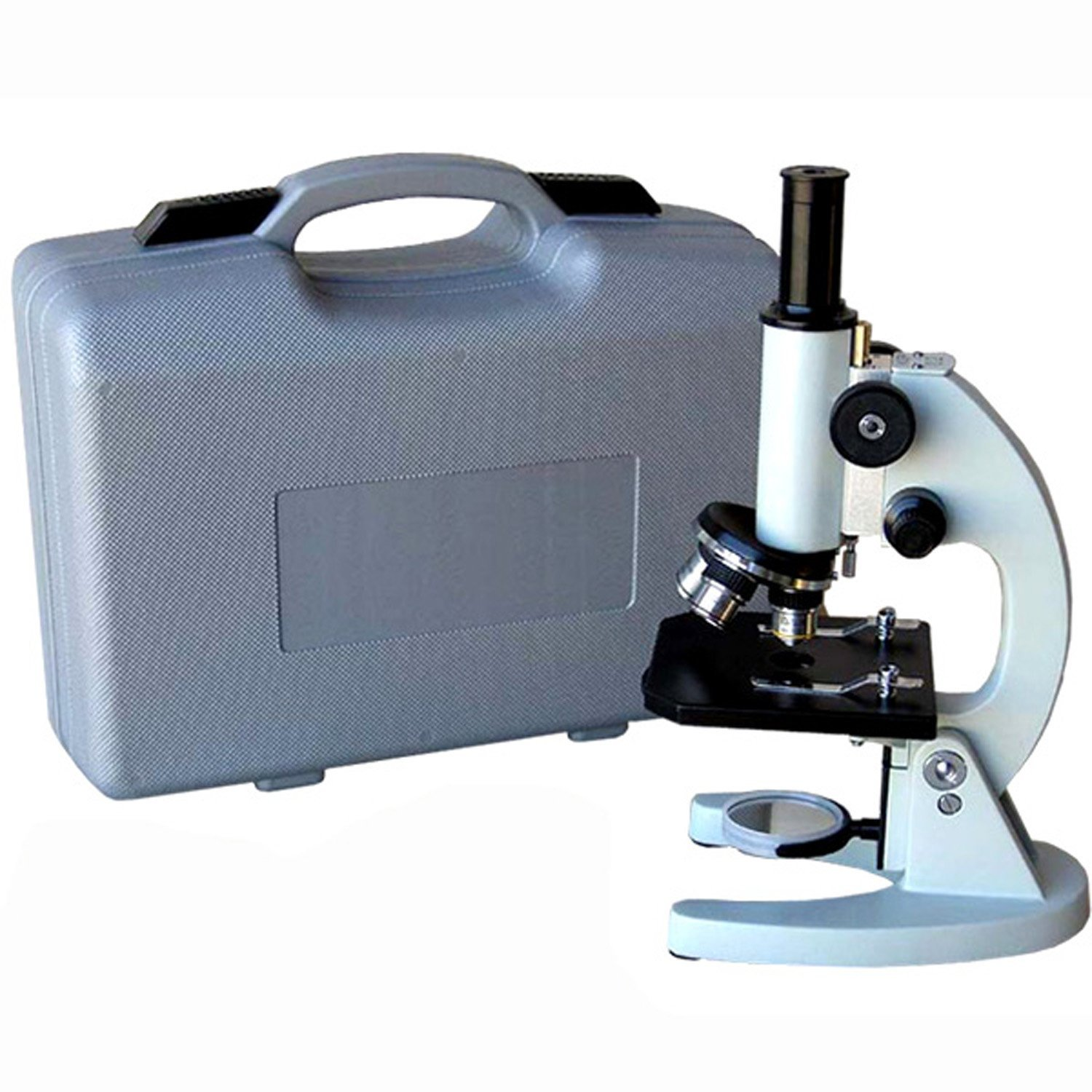 AmScope M60A-ABS 40X-640X Metal Body Glass Lens Biology Student Microscope with ABS Case by AmScope