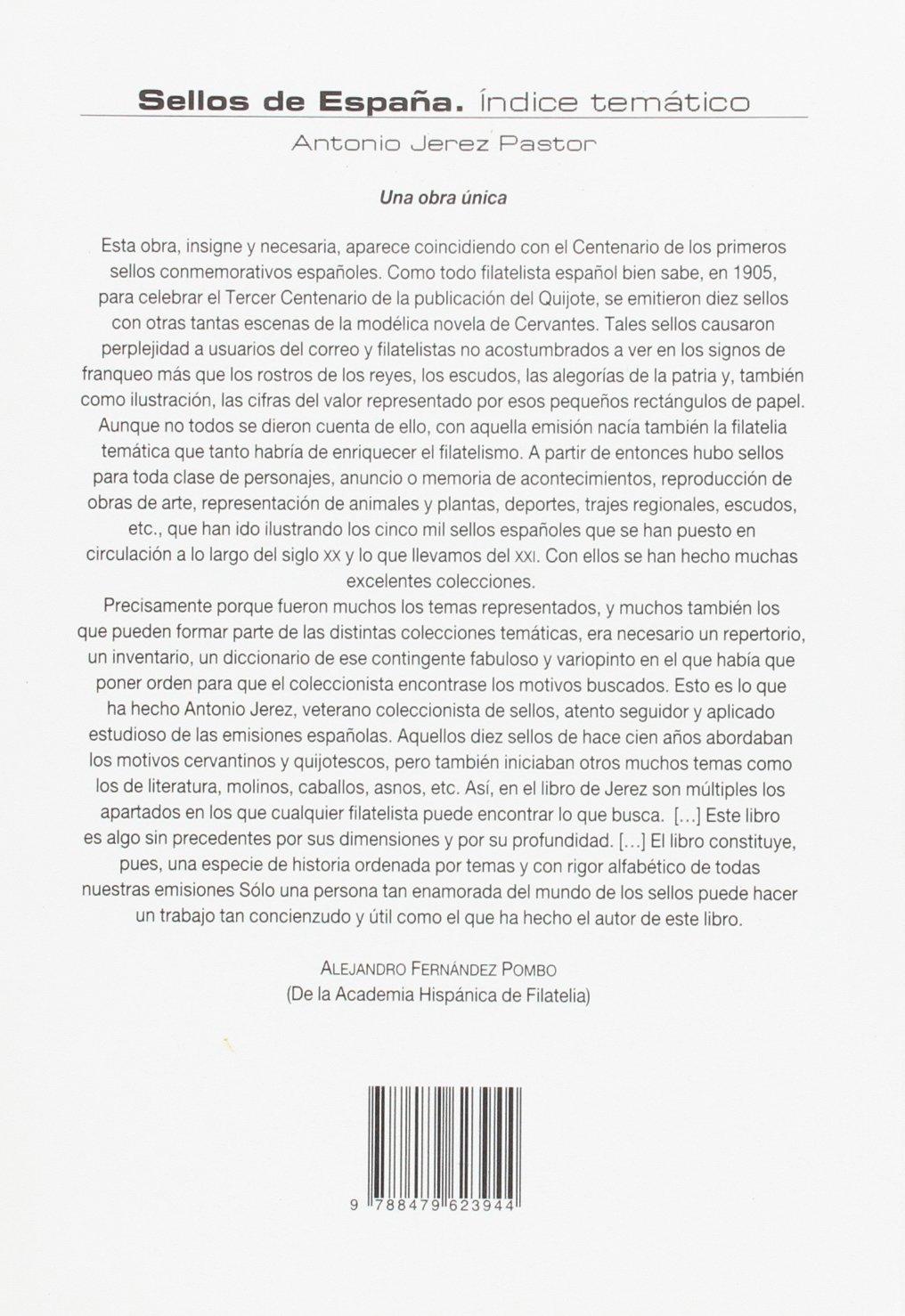 Sellos de España. Indice temático (Ensayo): Amazon.es: Jerez Pastor, Antonio: Libros