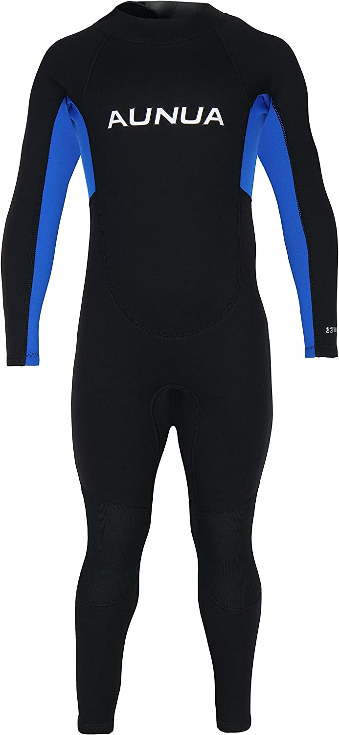 Aunua Youth 3 2mm Neoprene Wetsuits for Kids Full Wetsuit Swimming Suit Keep Warm