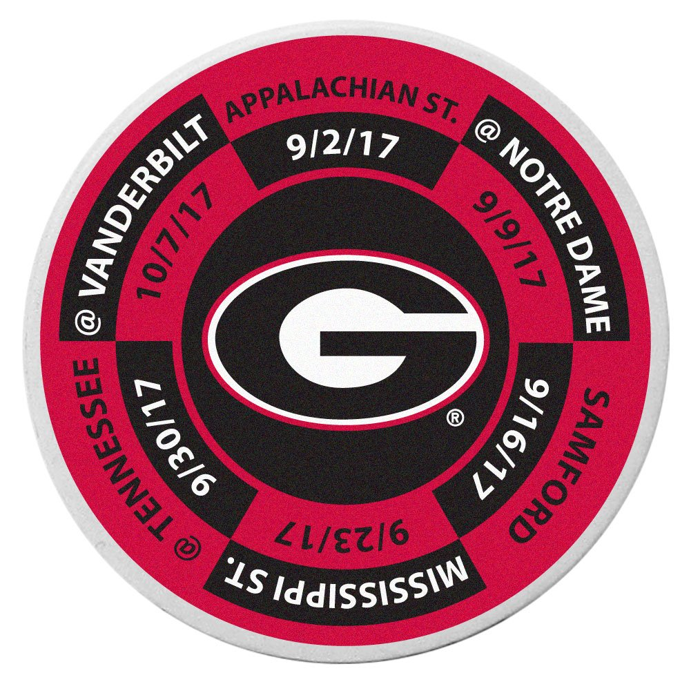 Siskiyou NCAA Georgia Bulldogs Schedule Golf Ball Marker Coin