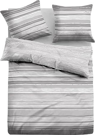 Tom Tailor Bettwäsche Silber Grau Größe 155x220 Cm 80x80 Cm