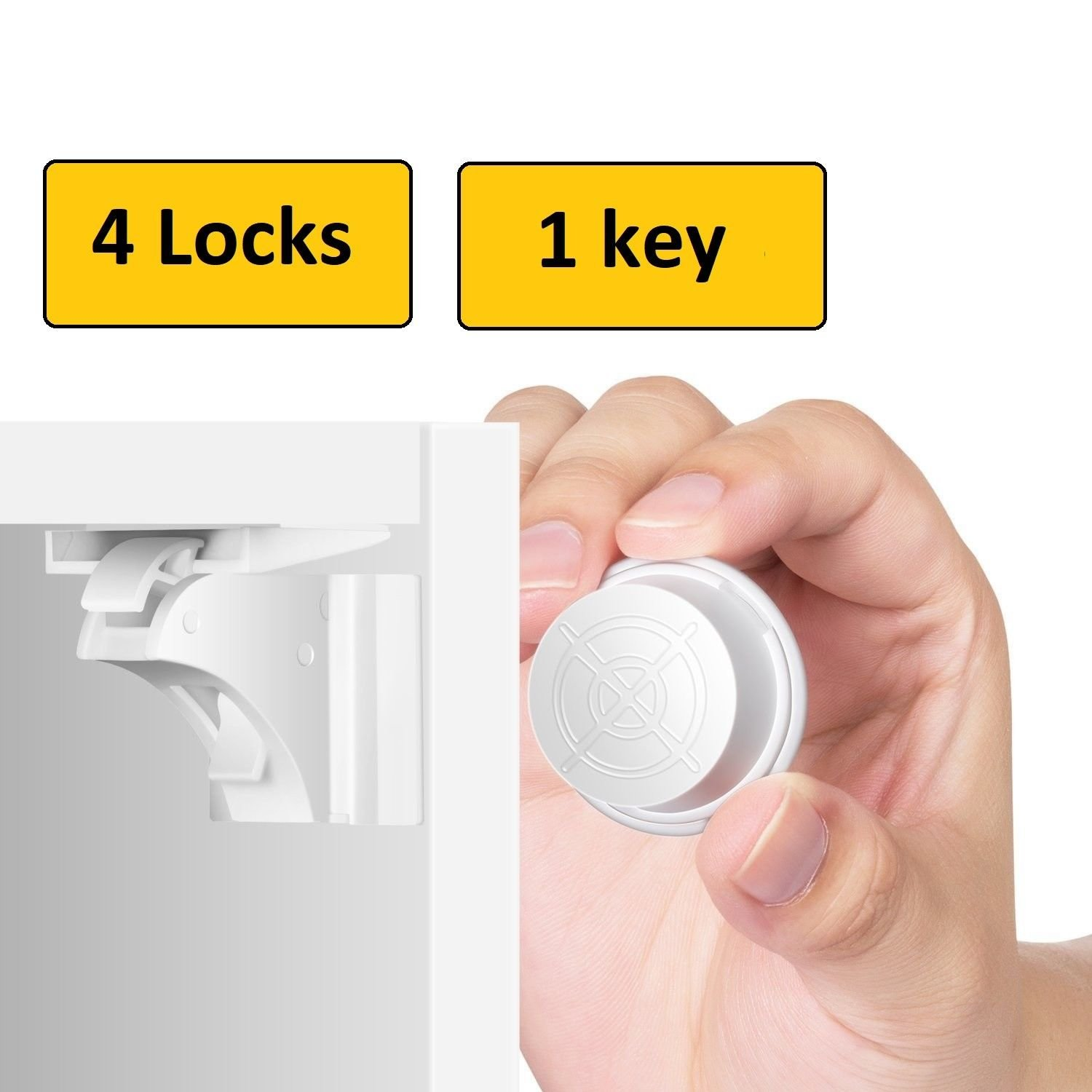 BabyDan Child Baby Toddler Magnetic Drawer and Cupboard Key Baby Proofing