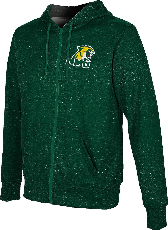 ProSphere Northern Michigan University Mens Full Zip Hoodie Heathered