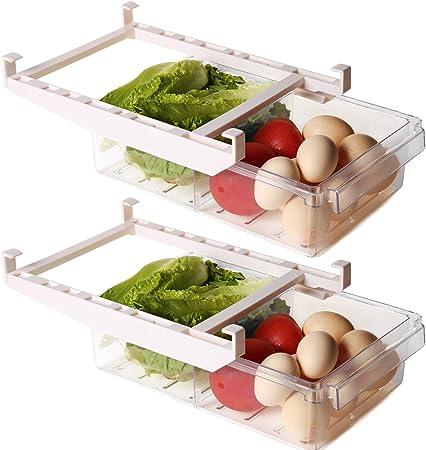 Shopwithgreen Organizador de cajones para frigorífico,cajón retráctil,caja de almacenamiento para,compartimentos extraíbles de único,caja de almacenamiento para soporte estante para frigorífico: Amazon.es: Grandes electrodomésticos