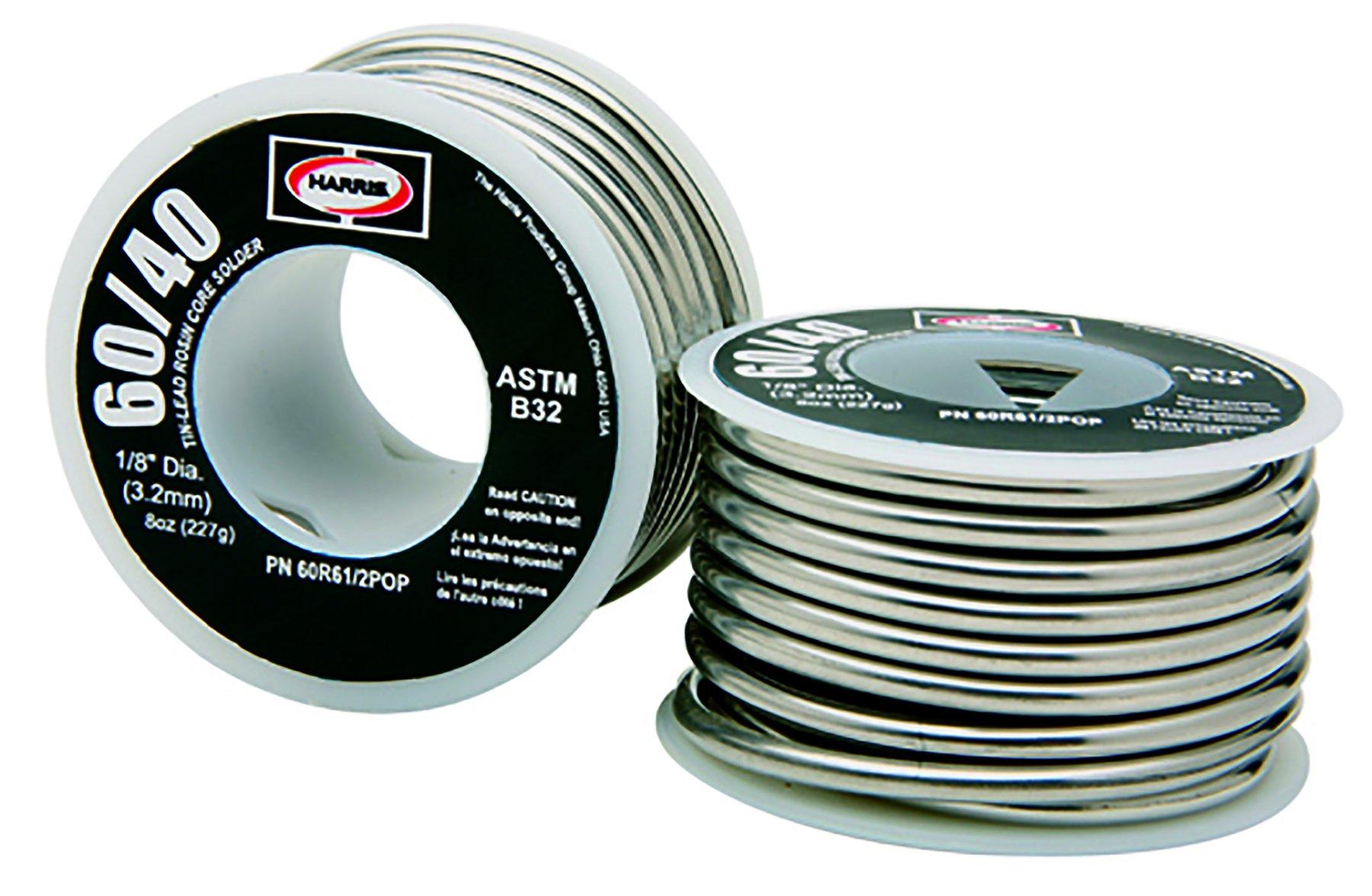 Harris 60R11 60/40 Rosin Core Lead Solder, 1/32'' x 1 lb. Spool