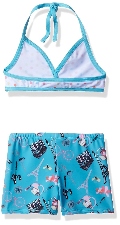 36bc2118b64 Amazon.com: Jelly the Pug Girls' Amelia Bikini with Shorts: Clothing