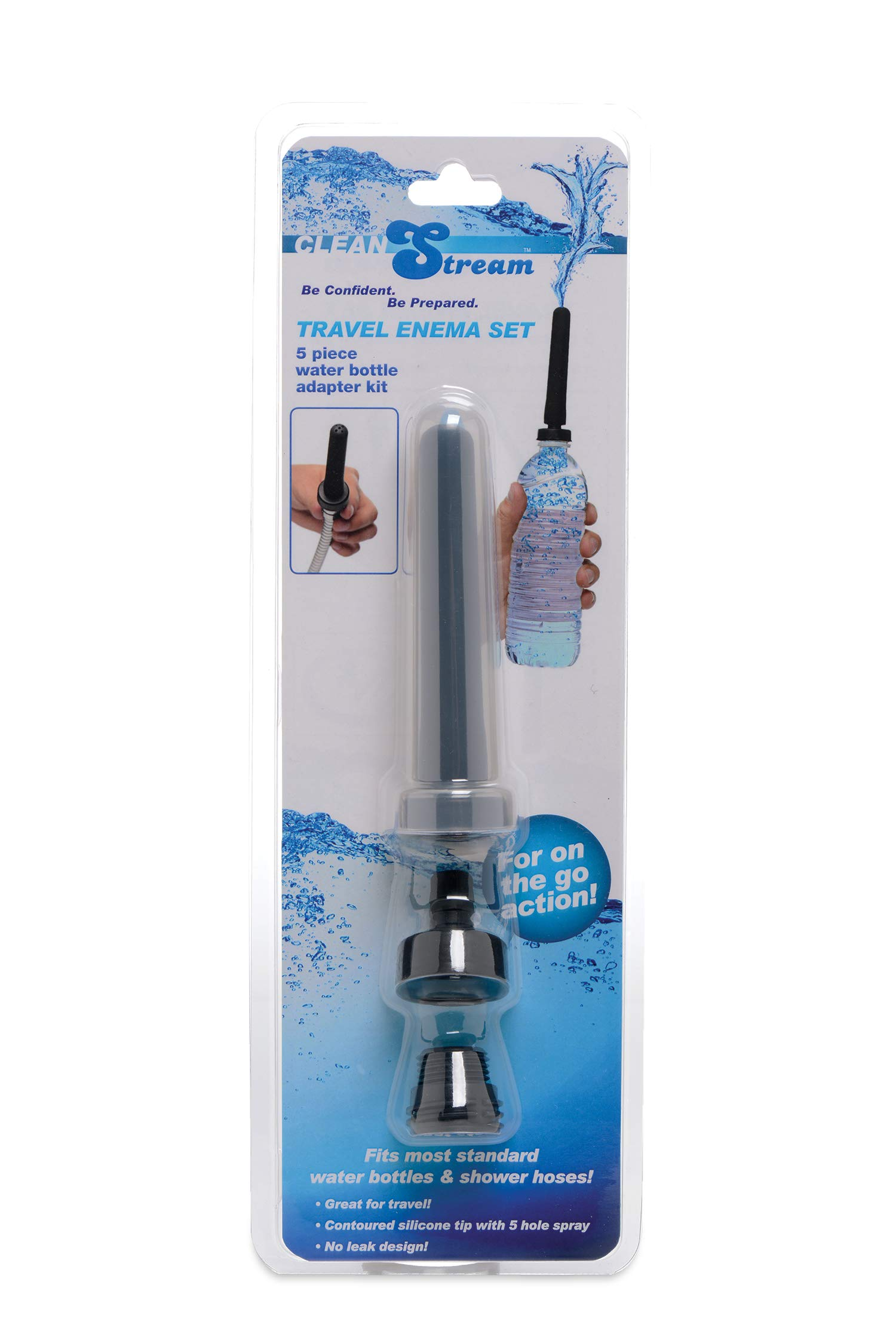 Cleanstream Travel Enema Water Bottle Adapter Set