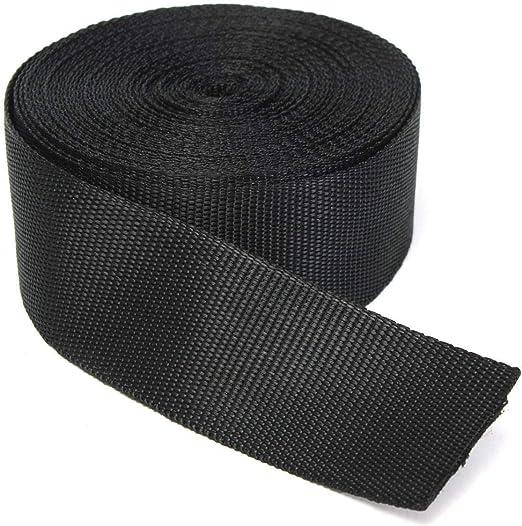Polypropylene Webbing Black Nylon Strap 1.5 in x 2 yd bulk discounts available