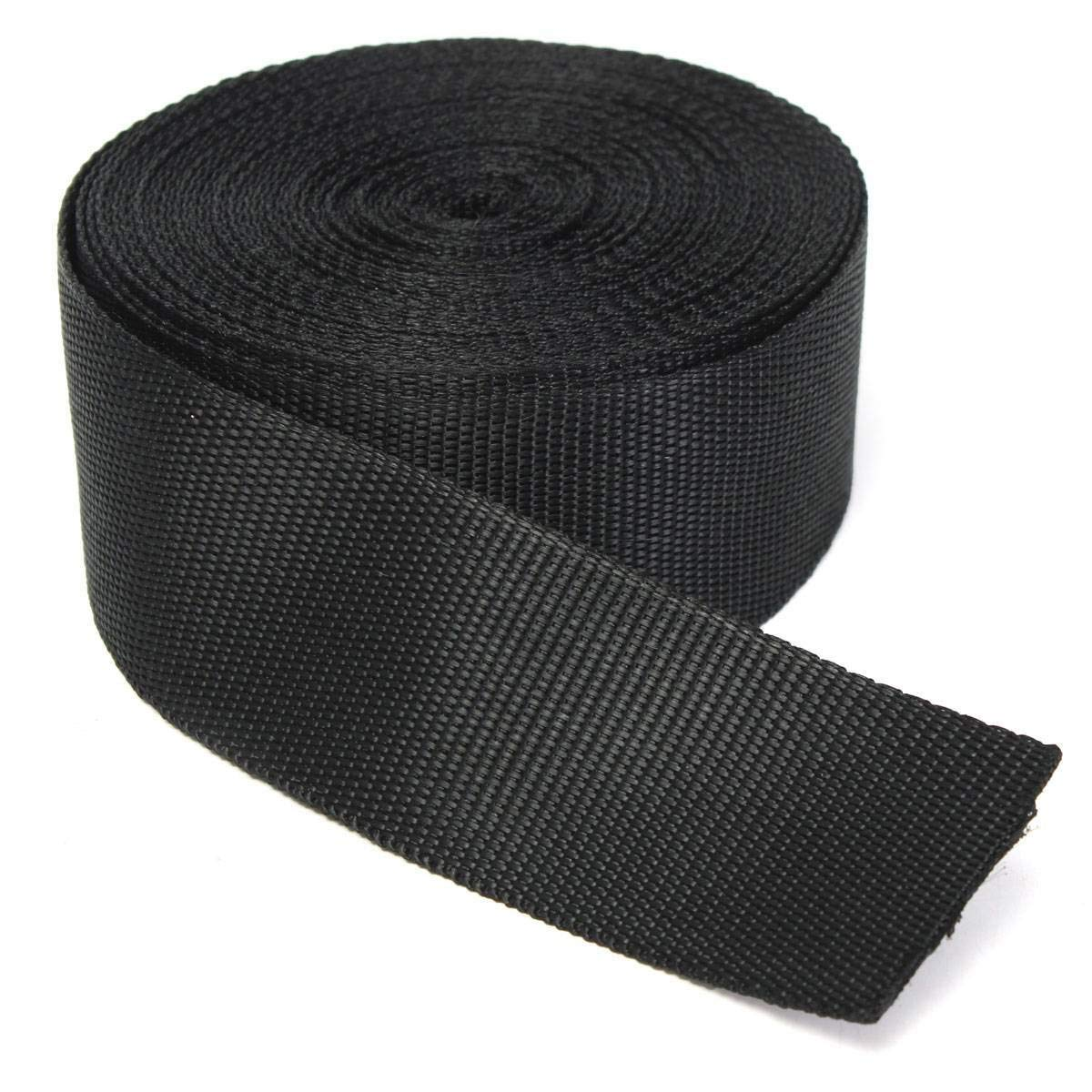 Outdoor Sports Learned Black 50mm 2 Inch Nylon Webbing X 10 Meters Buy 2 Get One Free