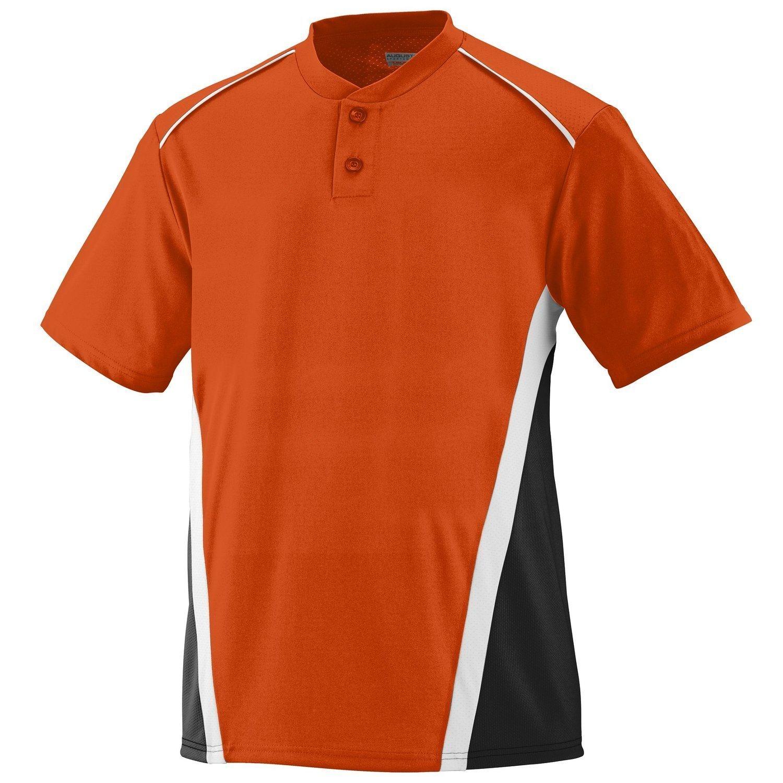Augusta SportswearメンズRBI野球ジャージー B00E1YTOW6 XLarge オレンジ/ブラック/ホワイト オレンジ/ブラック/ホワイト XLarge