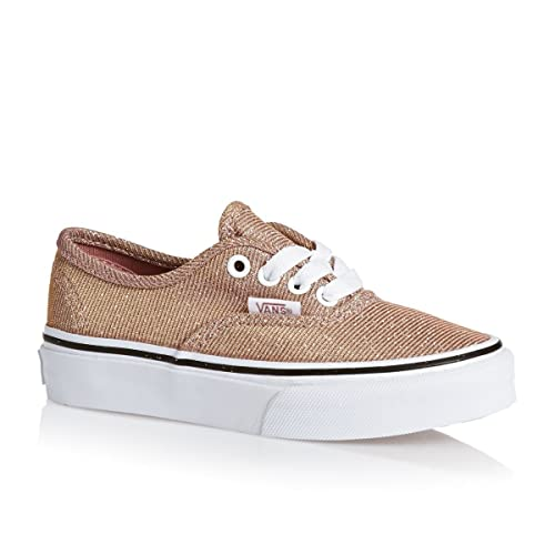 5b4de200426e Vans Authentic Glitter Junior Rose Gold Textile 4 M US Big Kid  Amazon.ca   Shoes   Handbags