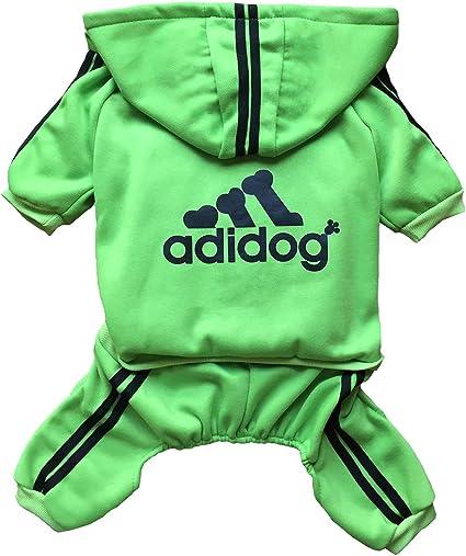 Green,M Rdc Pet Adidog Dog Hoodies Clothes,Fleece Jumpsuit Warm Sweater,4 Legs Cotton Jacket Sweat Shirt Coat for Small Dog Medium Dog Large Dog