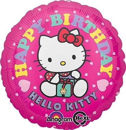 Anagram International Hello Kitty Happy Birthday Foil Balloon Pack, 18