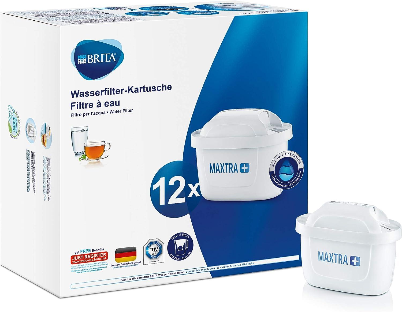 BRITA MAXTRA+ – 12 filtros para el agua – Cartuchos filtrantes ...