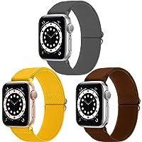 WNIPH Pack 3 Solo Loop Strap Compatibel met Apple Watch Strap 38mm 40mm, Verstelbare Elastieken Stretchy Nylon…